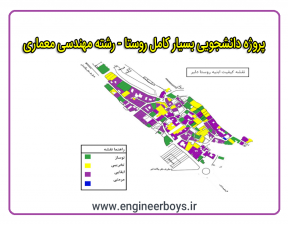 دانلود پروژه بسیار کامل روستا مناسب برای رشته معماری و شهرسازی