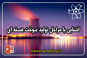 پروژه پاورپوینت آشنایی با مراحل تولید سوخت هسته ای